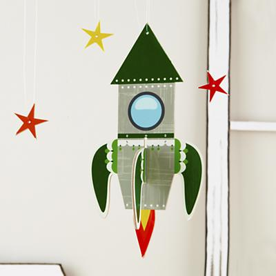 Fly Me Through the Room Hanging Rocket
