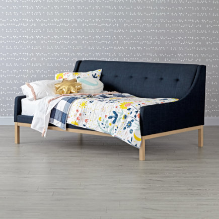 - Gallery Navy Upholstered Daybed