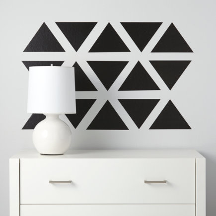 Triangle Wall Decals (black) - Black Basic Trig Decals