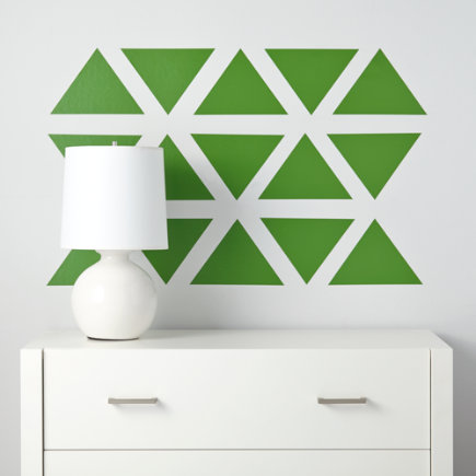 Triangle Wall Decals (green) - Green Basic Trig Decals