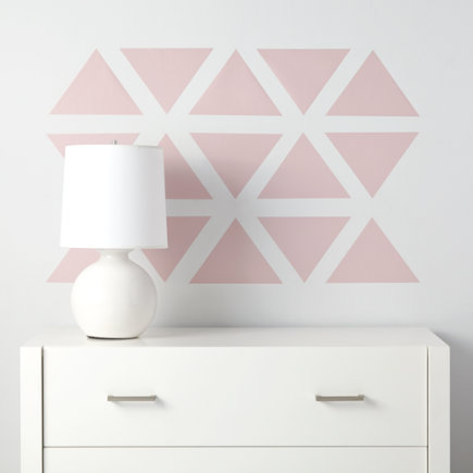 Triangle Wall Decals (pink) - Pink Basic Trig Decals