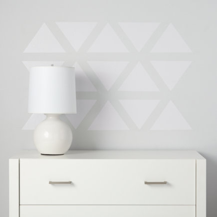 Triangle Wall Decals (white) - White Basic Trig Decals