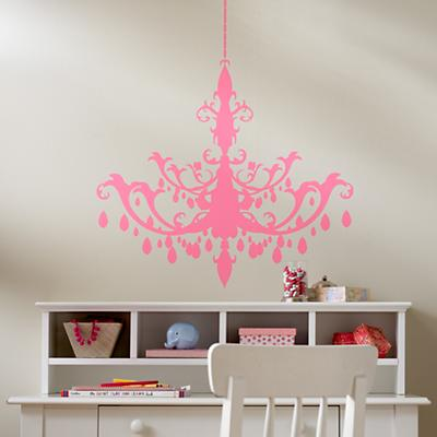 A Chandelier Appears Decal (Pink)