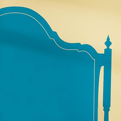 Olivia Queen Headboard Decal (Aqua)