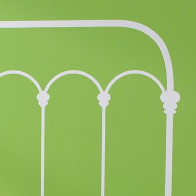 White Queen Wrought Iron Headboard Decal