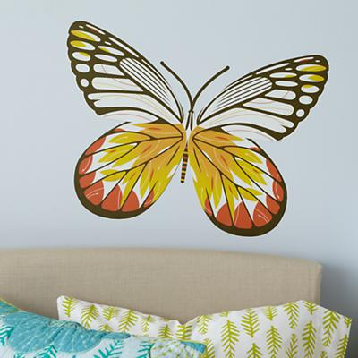 White Delia Butterfly Decal