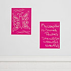 Chalkboard Pink Decals (Set of 2)