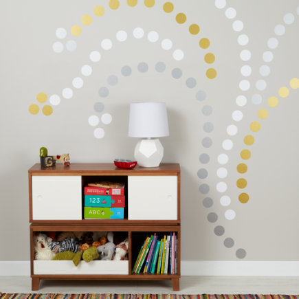 Lottie Dots Polka Dot Wall Decals (White) - Lottie Dots White Decal