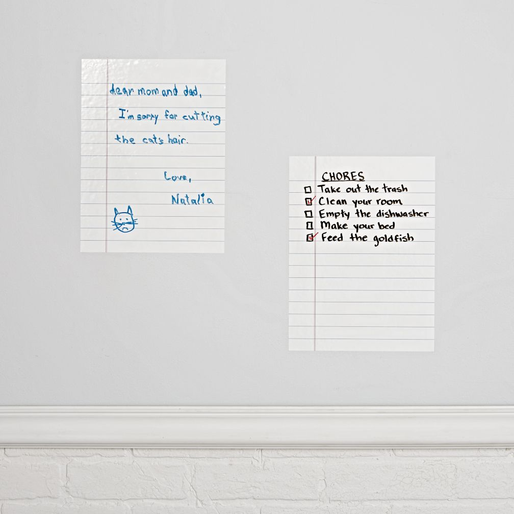 Ruled Dry Erase Decal (Set of 2)