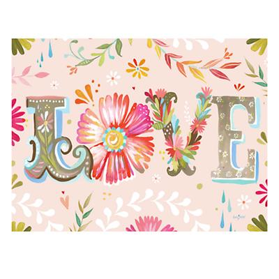 Flower Love Poster Decal