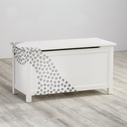 Silver Mini Dot Geometric Furniture Decal