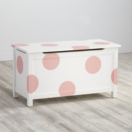 Furniture Decal (Pink Polka Dot) - Pink Dot Geometric Furniture Decal