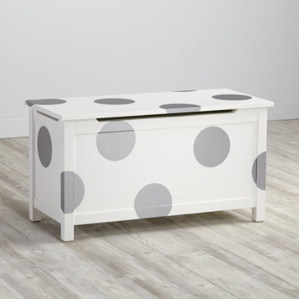 Furniture Decal (Silver Polka Dot) - Silver Dot Geometric Furniture Decal