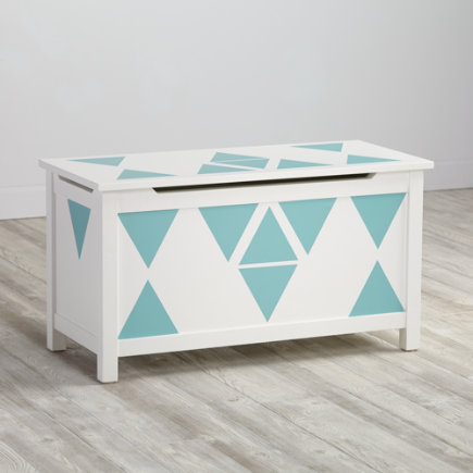 Furniture Decal (AquaTriangles) - Aqua Triangle Geometric Furniture Decal