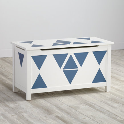Blue Triangle Geometric Furniture Decal