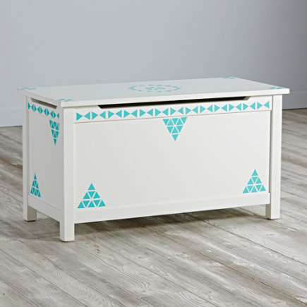 Aqua Mini Triangle Geometric Furniture Decal
