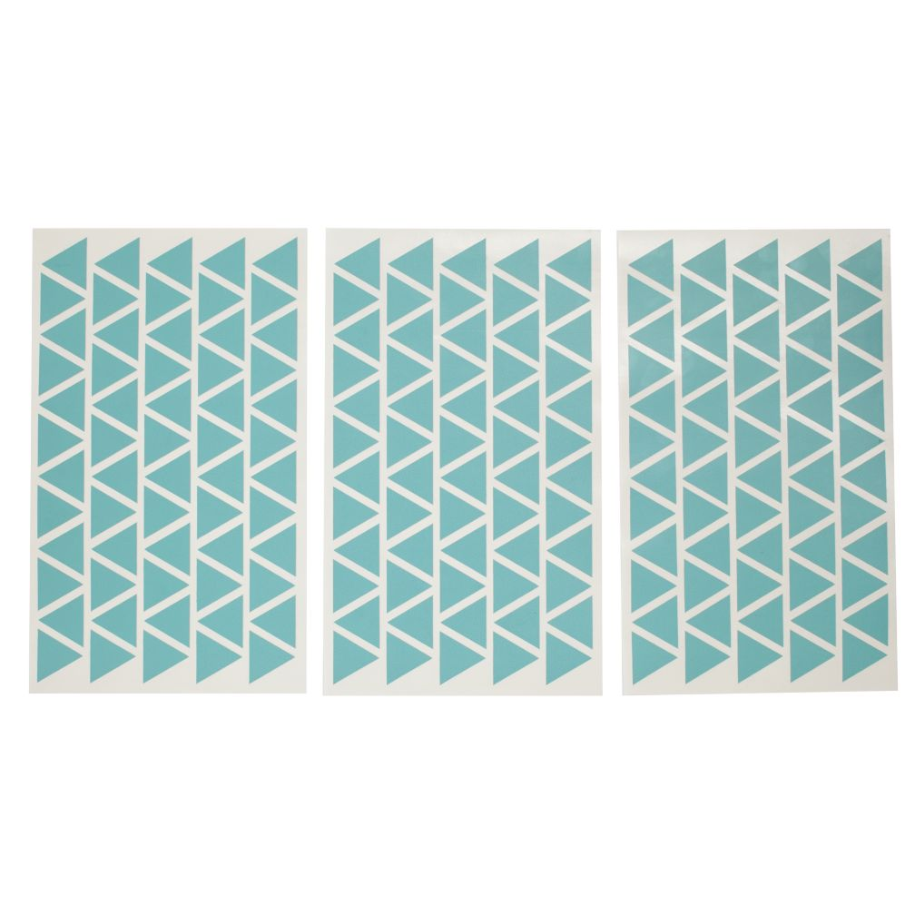 Geometric Furniture Decal (Aqua Mini Triangle)