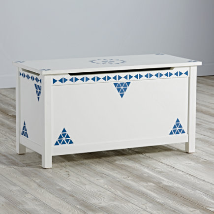 Blue Mini Triangle Geometric Furniture Decal