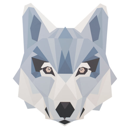 Geo Wild Wall Decal (Wolf) - Wolf Geo Wild Wall Decal