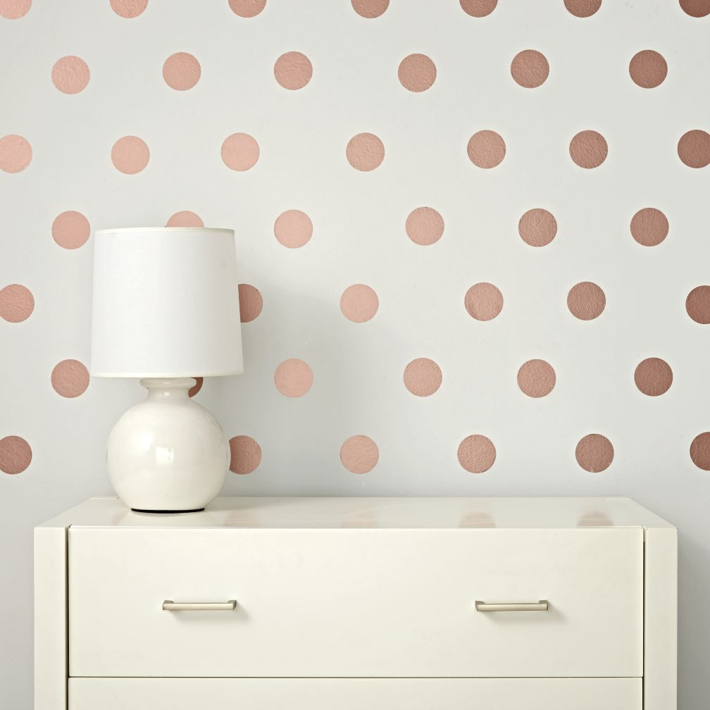 Girls Rose Gold Wallpaper: Lottie Dot Rose Gold Decals