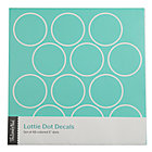 Aqua Lottie Dots Decal Set