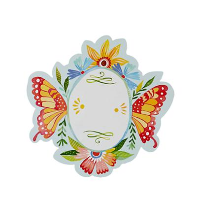 Morning Glory Monogram Wall Decal (Butterfly)