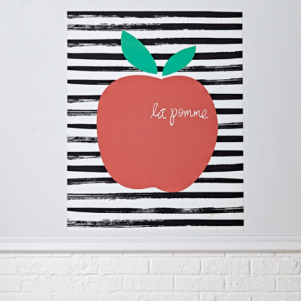 La Pomme Poster Decal - La Pomme Poster Decal