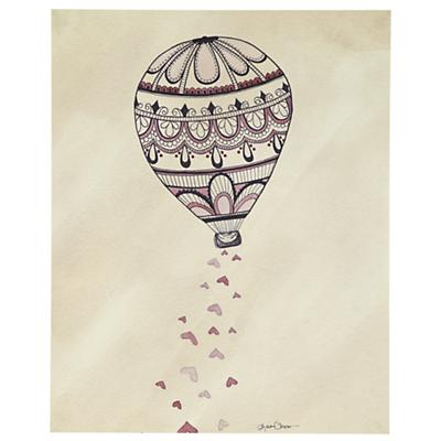 Rain Balloon Poster Decal