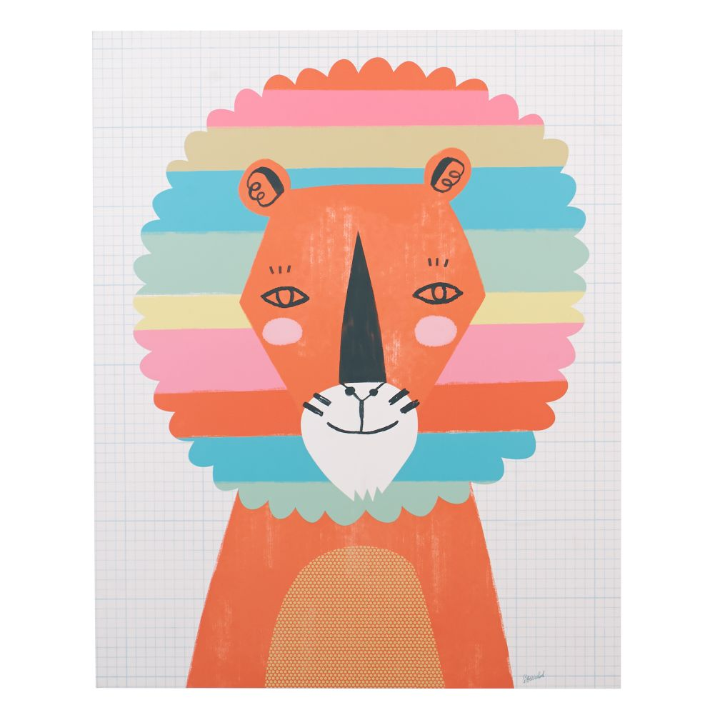 Rainbow Lion Poster Decal