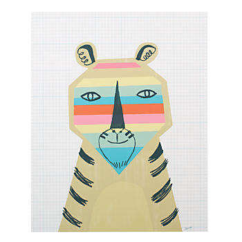 Rainbow Tiger Poster Decal