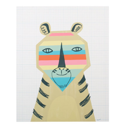 Rainbow Animal Poster Decal (Tiger) - Rainbow Tiger Poster Decal