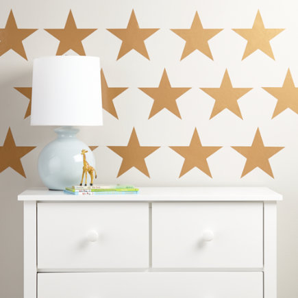 Star Bright Wall Decal (Gold) - Gold Star Bright Wall Decal