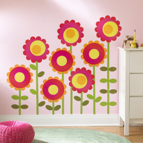 Bright Blossoms Wall Decal