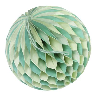 Small Well Rounded Paper Ball (Green)