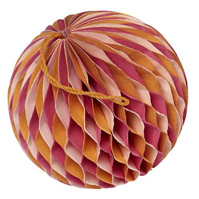 Small Well Rounded Paper Ball (Orange)