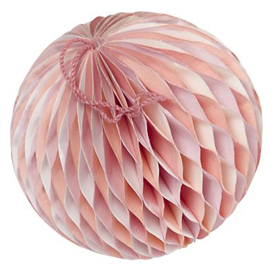 Small  Well Rounded Paper Ball (Pink)