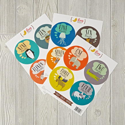 Animal Lover 12-Month Stickers
