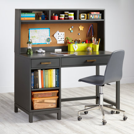 Cargo Kids Desk (Grey) - Charcoal Cargo Desk