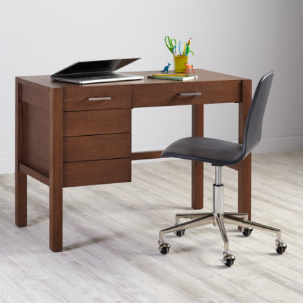 Uptown Modern Kids Desk (Brown Stain) - Brown Uptown Desk