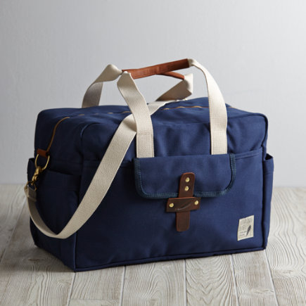 Birdling Overnight Diaper Bag (Navy) - Navy Birdling Overnight Bag