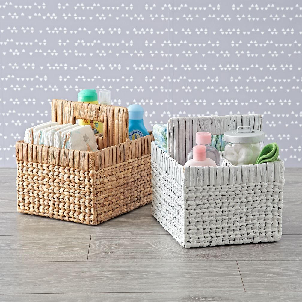 Wonderful Wicker Diaper Caddy
