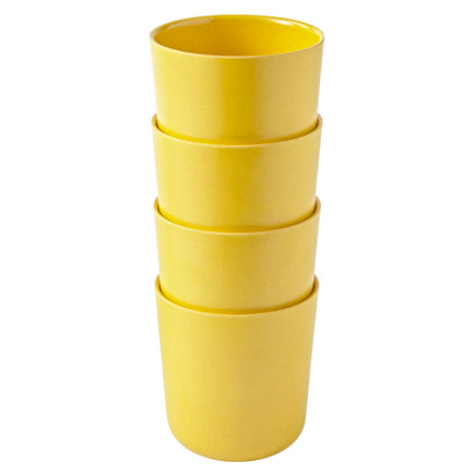 Yellow Set of 4 Gusto Cups