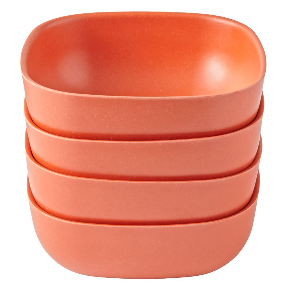 Orange Gusto Large Bowls (Set of 4)