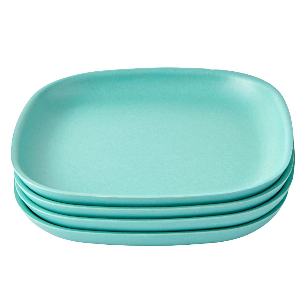 Set of 4 Gusto Side Plates (Aqua)