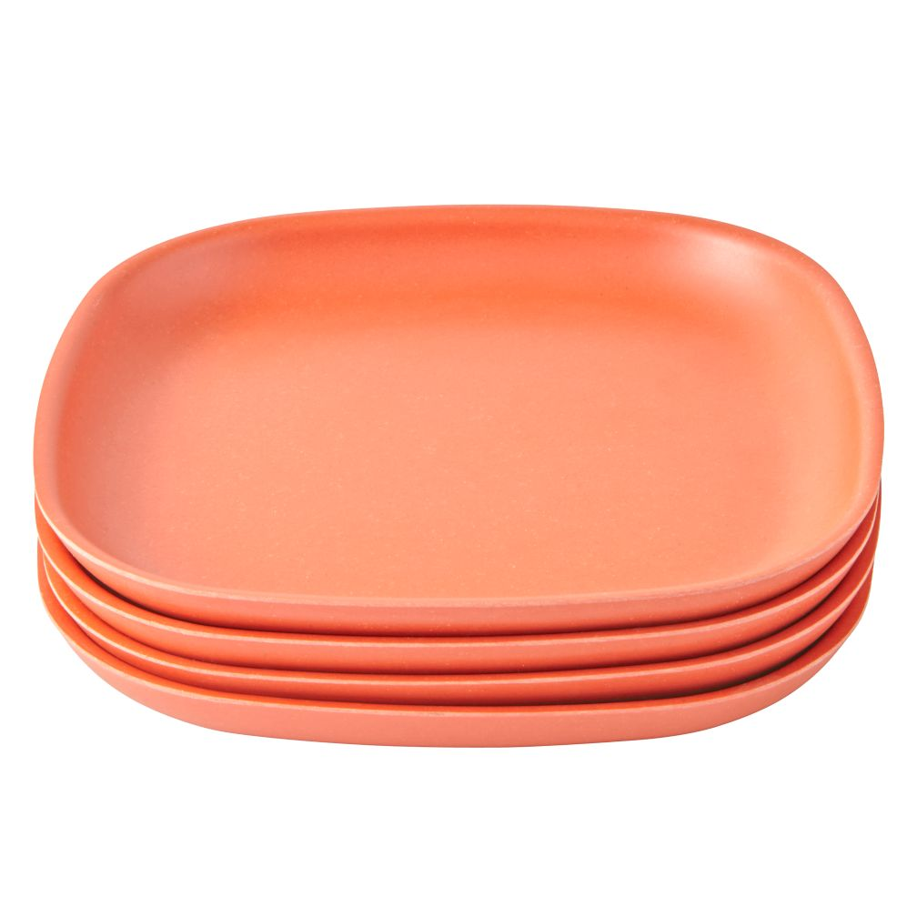 Orange Gusto Side Plates (Set of 4)
