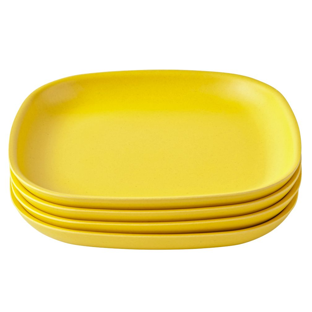 Yellow Gusto Side Plates (Set of 4)