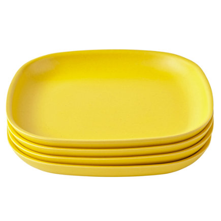 Yellow Set of 4 Gusto Side Plates