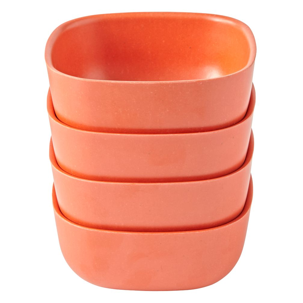Set of 4 Gusto Small Bowls (Orange)