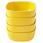 Yellow Set of 4 Gusto Small Bowls