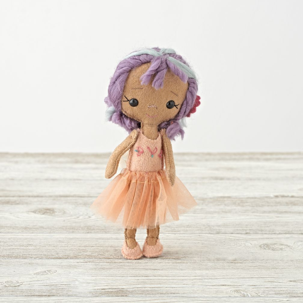 Orange Ballerina Belle Doll